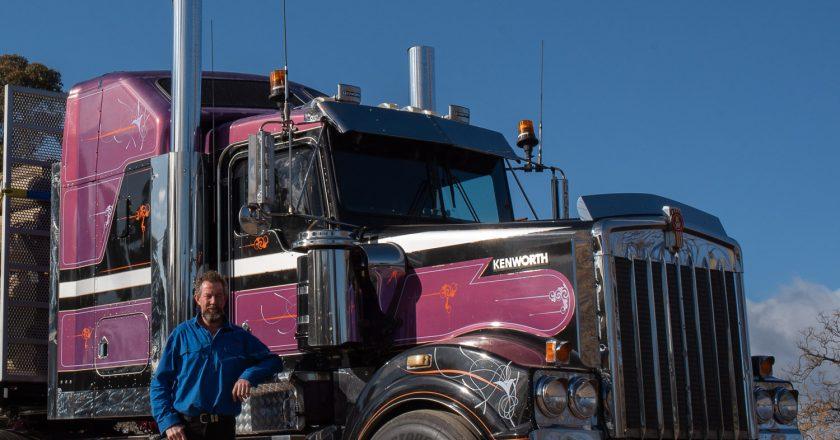 no stranger to operating trucks